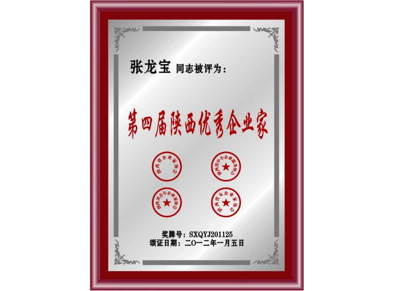 第四届陕西优秀企业家