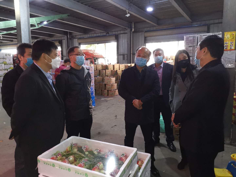 安康农发行领导前往宝业综合农贸市场调研民生物资保障、供应情况